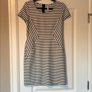 Like new Black and white striped dress. Size L